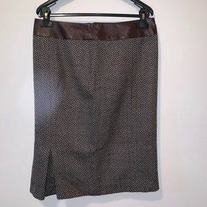 3/$15 Philippe Adec houndstooth wool pencil skirt